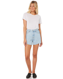 LIGHT BLUE WOMENS CLOTHING NUDE LUCY SHORTS - NU23352LTBLU
