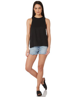 BLACK WOMENS CLOTHING ALL ABOUT EVE SINGLETS - 6424068BLK