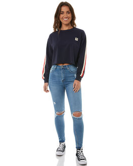 NAVY WOMENS CLOTHING RVCA JUMPERS - R283159NAVY