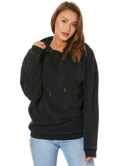 WASHED BLACK WOMENS CLOTHING SILENT THEORY JUMPERS - 6073046WBLK