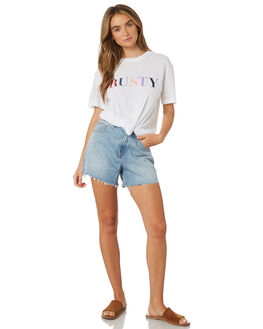 WHITE WOMENS CLOTHING RUSTY TEES - TTL0991WHT