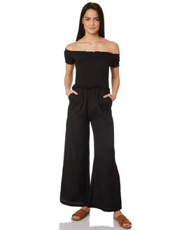 BLACK WOMENS CLOTHING JORGE PLAYSUITS + OVERALLS - 8320057BLK