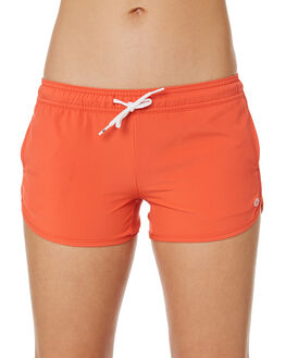 MANDARIN RED WOMENS CLOTHING RIP CURL SHORTS - GBOEJ14869