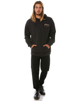 BLACK MENS CLOTHING STUSSY JUMPERS - ST081206BLK