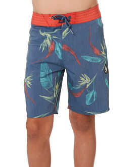 SMOKEY BLUE KIDS BOYS VOLCOM BOARDSHORTS - C0841900SMB