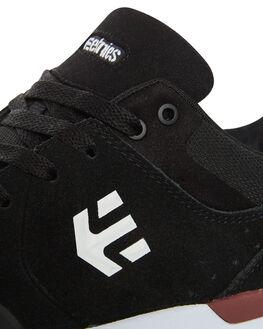 BLACK WHITE MENS FOOTWEAR ETNIES SKATE SHOES - 4101000454BLKW