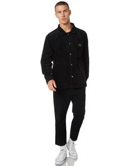 BLACK MENS CLOTHING STUSSY JACKETS - ST095500BLACK