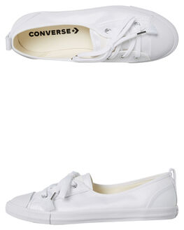 WHITE EGRET WOMENS FOOTWEAR CONVERSE SNEAKERS - 562168CWHT