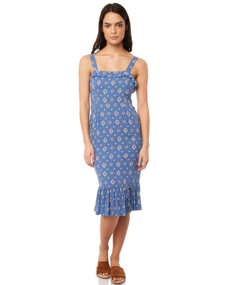 BLUE WOMENS CLOTHING TIGERLILY DRESSES - T381421BLU
