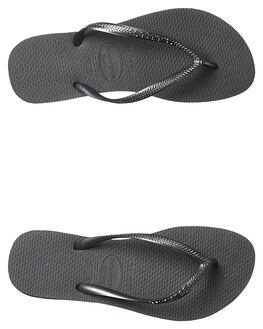 GREY WOMENS FOOTWEAR HAVAIANAS THONGS - HSMS0040GRY