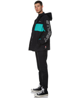 BLACK MENS CLOTHING STUSSY JACKETS - ST076508BLK