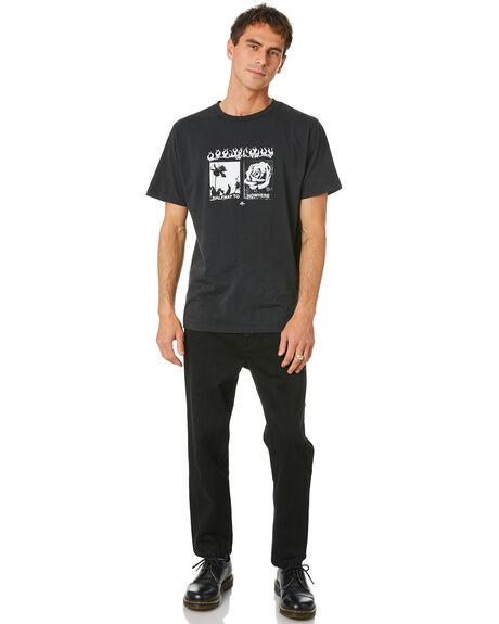 BLACK RINSE MENS CLOTHING THRILLS JEANS - TDP-414BRBLKRN