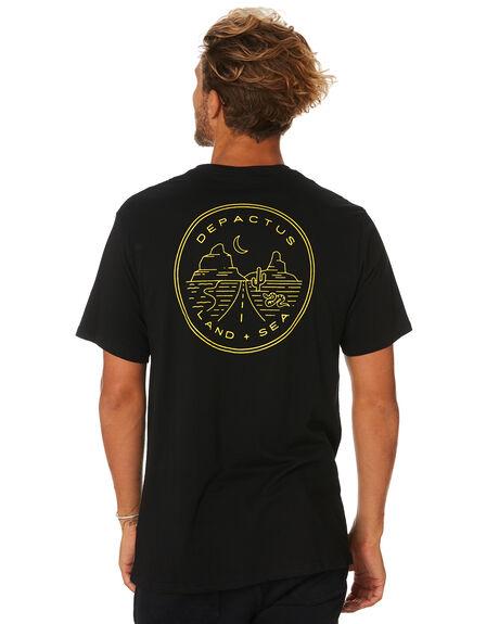 BLACK MENS CLOTHING DEPACTUS TEES - D5193009BLACK