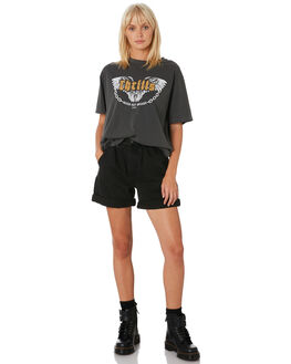 FADED BLACK WOMENS CLOTHING THRILLS SHORTS - WTDP-327FBBLK
