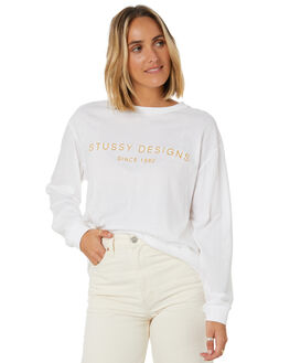 WHITE WOMENS CLOTHING STUSSY TEES - ST106006WHT