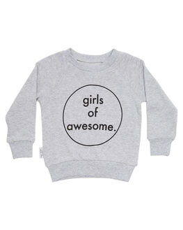 GREY KIDS TODDLER GIRLS TINY TRIBE JUMPERS - TTW18-8011AGRY