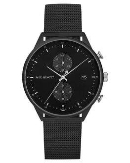 BLACK MESH STRAP MENS ACCESSORIES PAUL HEWITT WATCHES - PH-C-B-BSS-5MBLKM