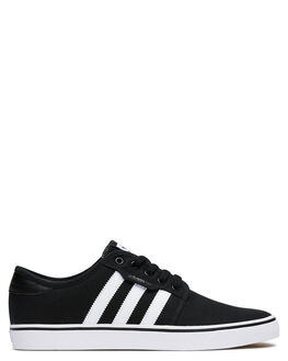 BLACK WHITE WOMENS FOOTWEAR ADIDAS SNEAKERS - SSF37427BLKW