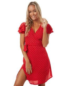 RED POLKA WOMENS CLOTHING SAINT HELENA DRESSES - SH2A704REDP