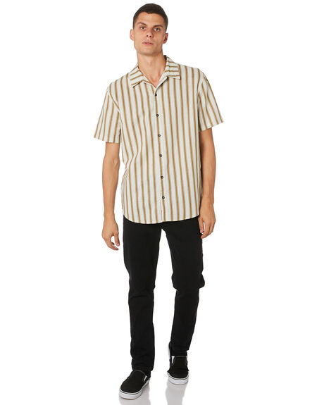 CEMENT MENS CLOTHING THRILLS SHIRTS - TH9-219GCEMNT