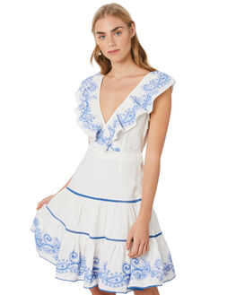 WHITE WOMENS CLOTHING TIGERLILY DRESSES - T305425WHT