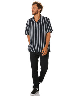 BLACK MENS CLOTHING OBEY SHIRTS - 181210236BLK