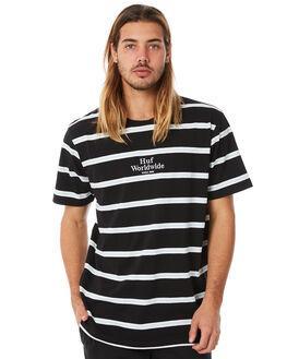 BLACK MENS CLOTHING HUF TEES - HUF-KN00052-BLK