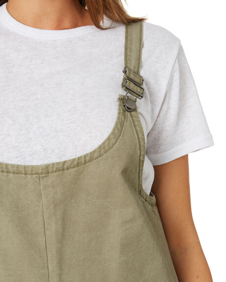 LIGHT OLIVE WOMENS CLOTHING SWELL PLAYSUITS + OVERALLS - S8174452LTOLV