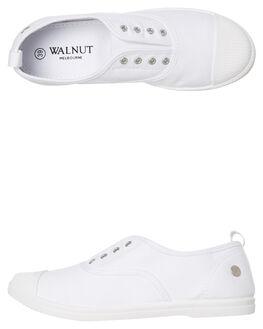 WHITE WOMENS FOOTWEAR WALNUT SNEAKERS - EUROWHT