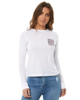 WHITE WOMENS CLOTHING BILLABONG TEES - 6585080WHT