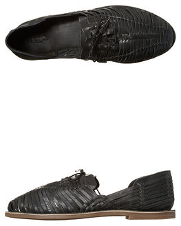 BLACK OILY MENS FOOTWEAR URGE SLIP ONS - URG16088BLK