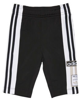 BLACK WHITE KIDS BOYS ADIDAS SHORTS - D96072BLKWH