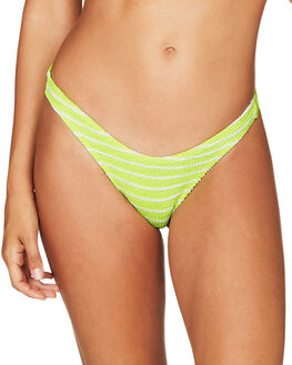 LIME STRIPE OUTLET WOMENS BOND EYE BIKINI BOTTOMS - BOUND050LME