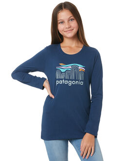 STONE BLUE KIDS GIRLS PATAGONIA TOPS - 62214FBSB