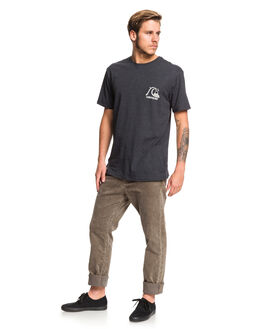 CHARCOAL HEATHER MENS CLOTHING QUIKSILVER TEES - EQYZT05447-KTAH