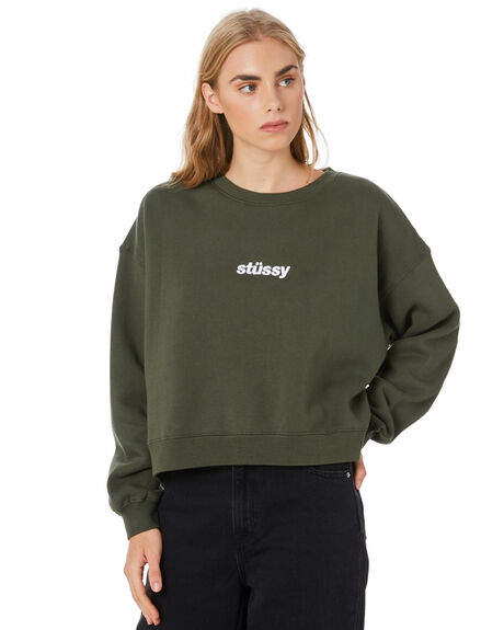 FLIGHT GREEN WOMENS CLOTHING STUSSY JUMPERS - ST106313FLT
