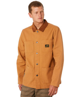 PECAN MENS CLOTHING MISFIT JACKETS - MT095504PECAN