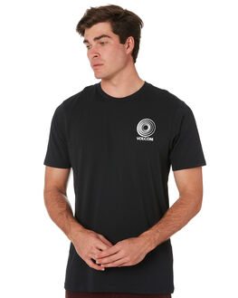 BLACK MENS CLOTHING VOLCOM TEES - A5001915BLK