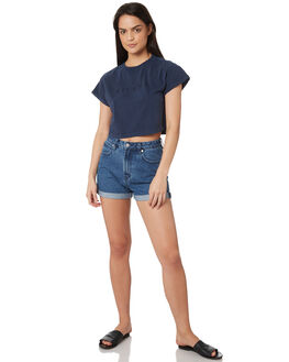 NAVY WOMENS CLOTHING SILENT THEORY TEES - 6022033NVY