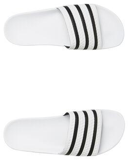 WHITE MENS FOOTWEAR ADIDAS SLIDES - SS280648WHIM