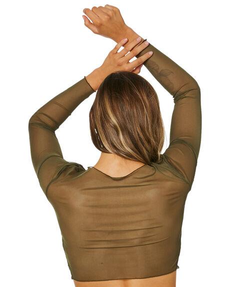 KHAKI WOMENS CLOTHING JAGGER AND STONE FASHION TOPS - JSJ020-2KHK