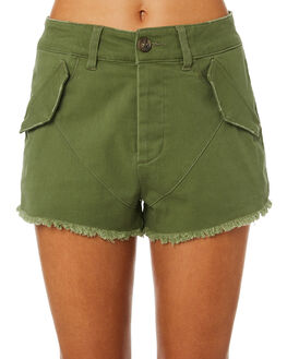KHAKI WOMENS CLOTHING THE HIDDEN WAY SHORTS - H8184237KHAKI