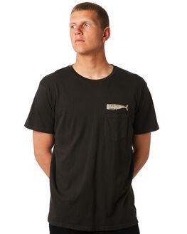 FADED BLACK MENS CLOTHING MOLLUSK TEES - MS31001FBLK