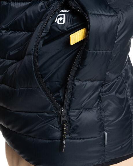 BLACK MENS CLOTHING QUIKSILVER JACKETS - EQYJK03661-KVJ0