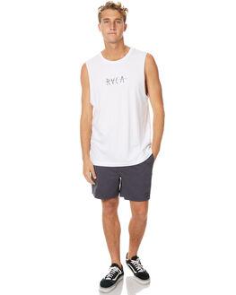 WHITE MENS CLOTHING RVCA SINGLETS - R171006WHT