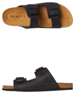 BLACK MENS FOOTWEAR SWELL SLIDES - 100010BLK
