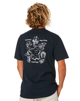 NAVY MENS CLOTHING PASS PORT TEES - PPTEATOWELNVY
