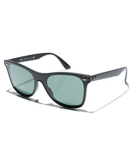 MATTE BLACK GREEN MENS ACCESSORIES RAY-BAN SUNGLASSES - 0RB4440NMBLK