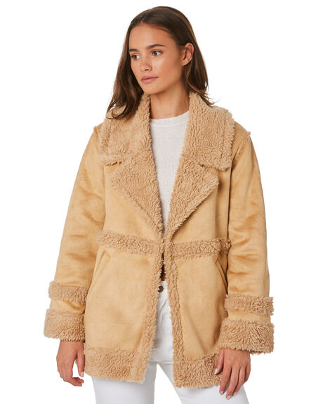 LIGHT TAN WOMENS CLOTHING ALL ABOUT EVE JACKETS - 6434046SAN