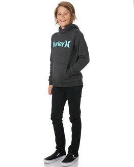 BLACK HEATHER TWIST KIDS BOYS HURLEY JUMPERS + JACKETS - AO2210033